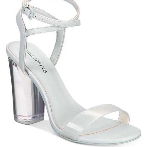 Call it Spring Perspex Heels